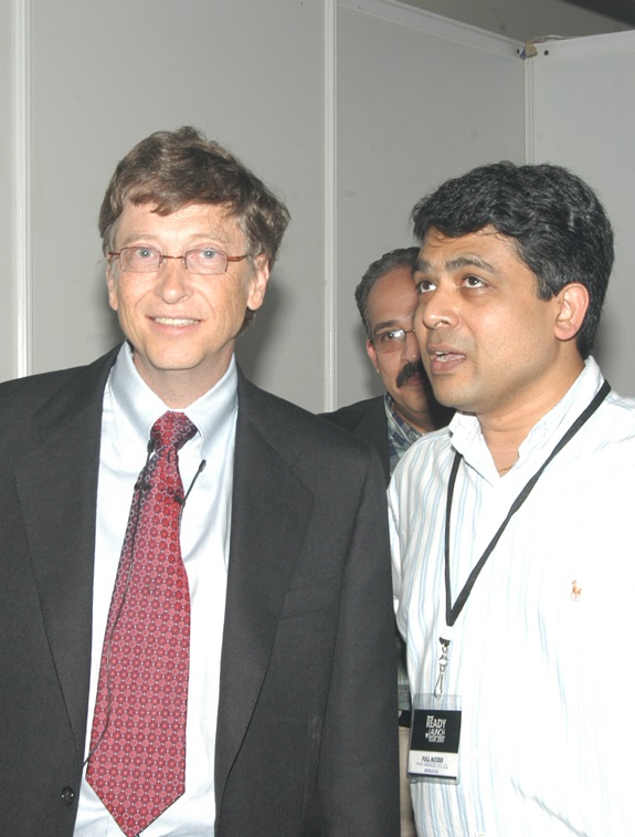Kush jain with Bill Gates