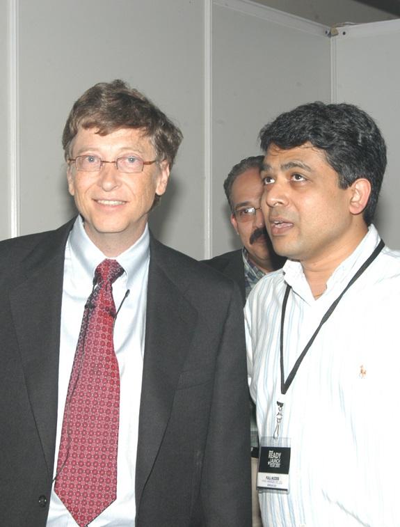 Kush Jain with Bill Gates